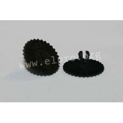 thumbwheel  16mm black