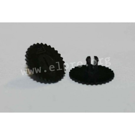 thumbwheel  16mm black