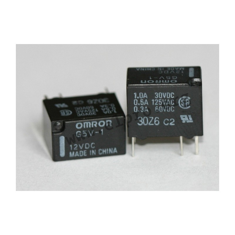 G5V-1 12V, PCB relays 1A, 1 changeover contact, by Omron - elpro ...