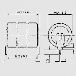 Abmessungen NHD 2,4V 3-Pin