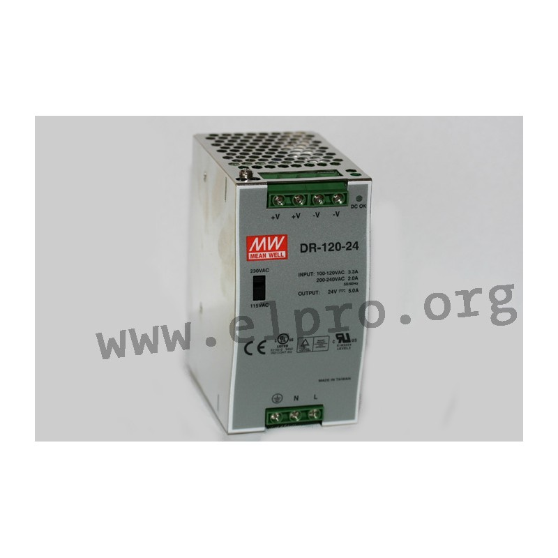 MW MEAN WELL DR 120-24 5A Power Supply