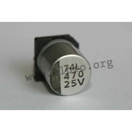 E-SMD 50 V 47 µF 105° ESR
