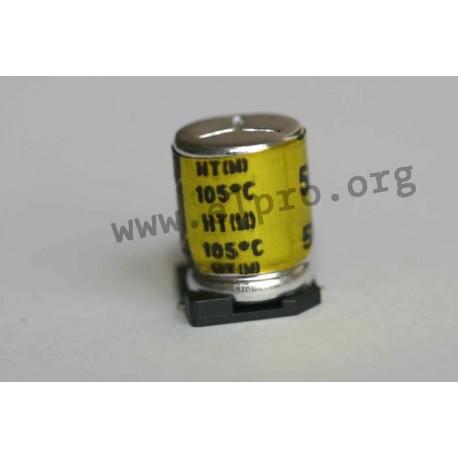 E-SMD 50 V 220 µF 105°