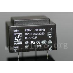 Abmessungen BV EI 302_