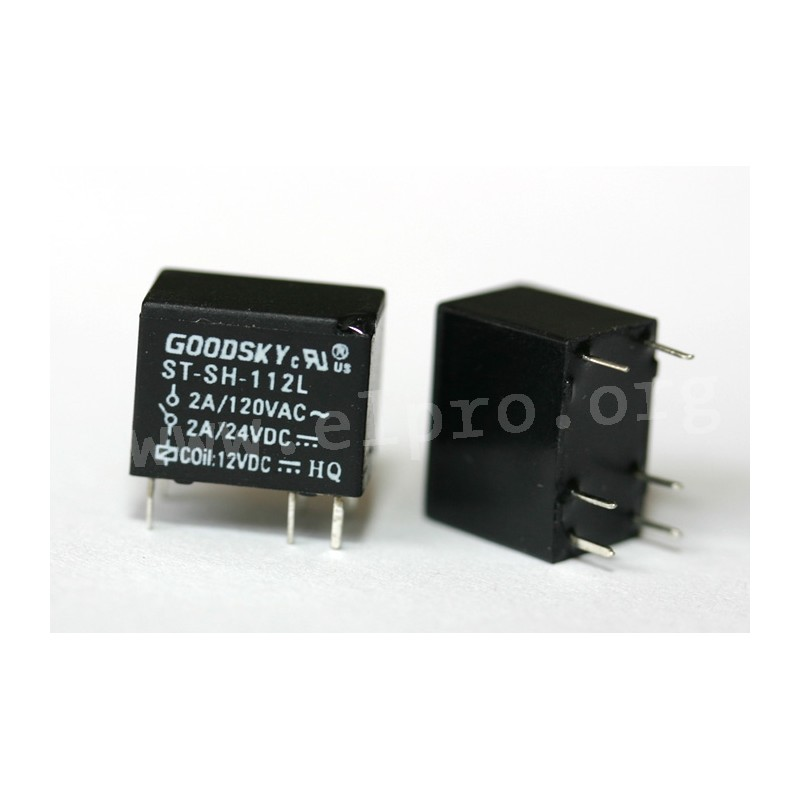 ST-SH-112L, PCB relays 2A, 1 changeover contact, by Goodsky - elpro ...