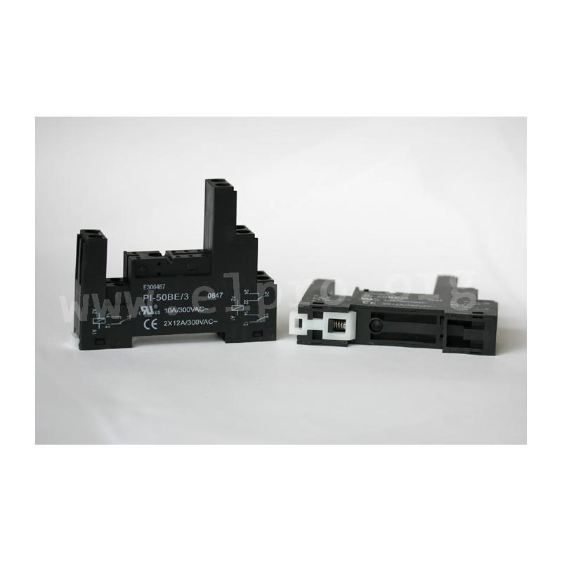 PI    BE    DIN rail sockets and retaining clips   elpro Elektronik PI    BE   PI    BE