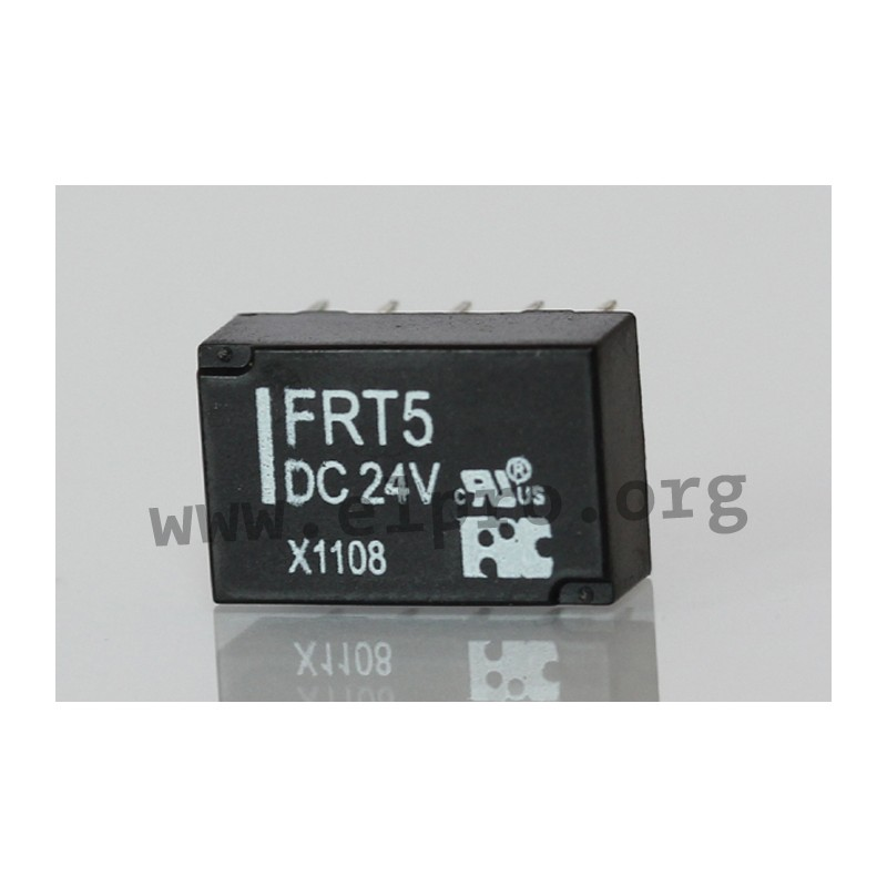 FRT5 DC 24V, PCB relays 1A, 2 changeover contacts, by FIC - elpro ...