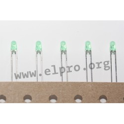LED 3 mm grün 12,6mCd 60° reel