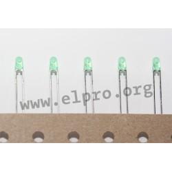 LED 3 mm grün 12,6mCd 60° reel