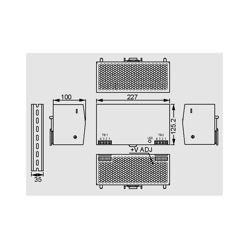 DRT 480 48V 10A, output: 480 W, 3 phase, DRT-480 series by