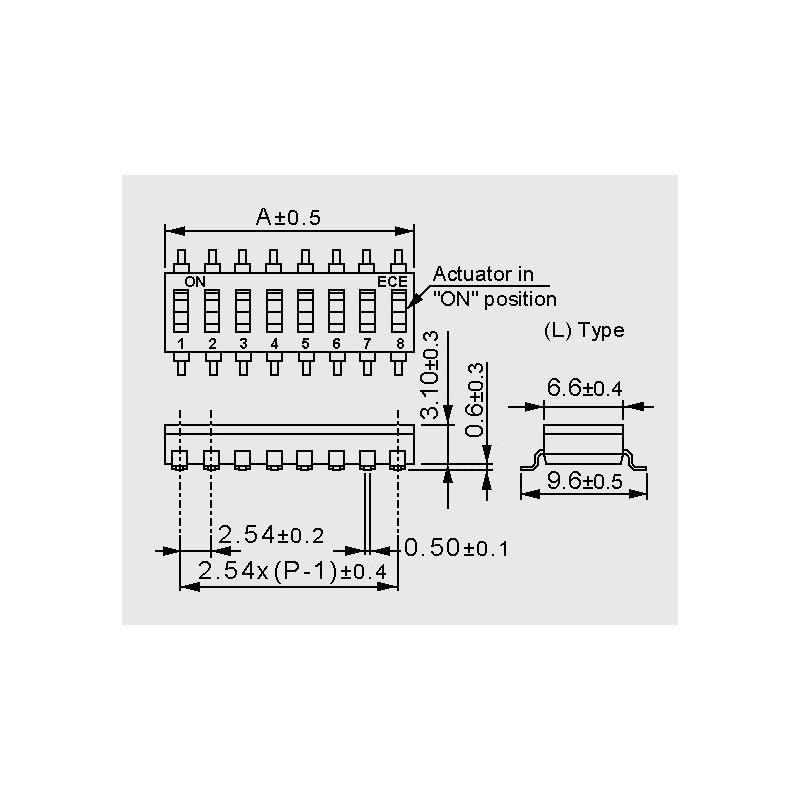 ESD 106 LDZ, SMD DIP switches - elpro Elektronik