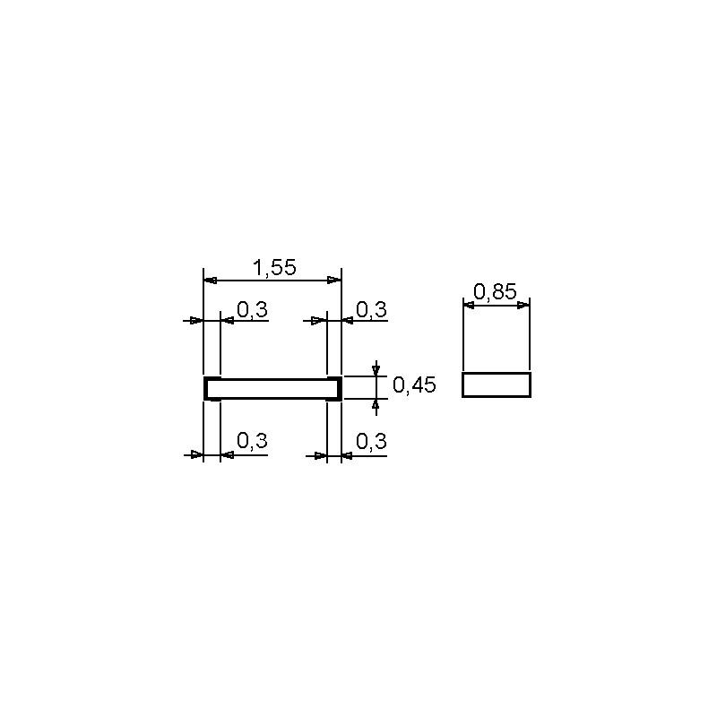SMD-Widerstand 1,5 kOhm 1/% 0,1 W Bauform 0603 gegurtet