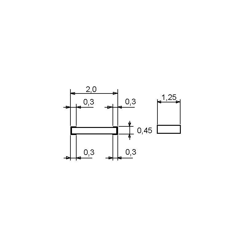 SMD-Widerstand 8,2 kOhm 1/% 0,1 W Bauform 0603 gegurtet