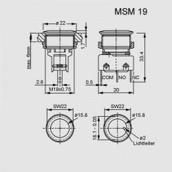 Abmessungen MSM 19