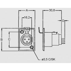 dimensions XLR 3 ES V