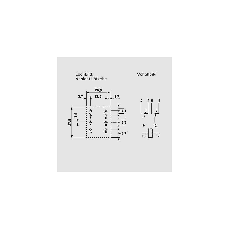 55.34 230V AC, Miniatur-Industrierelais 7-10A, 2 oder 4 Wechsler ...