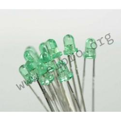 3mm, grün, transparent