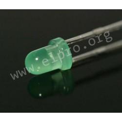 3mm, grün, diffus