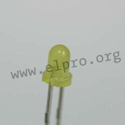 3mm, gelb, diffus, 2mA