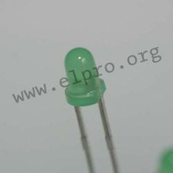 3mm, grün, diffus, 2mA
