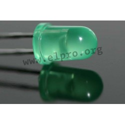 5mm, grün, diffus