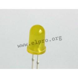 5mm, gelb, diffus, 2mA