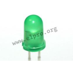 5mm, grün, diffus, 2mA