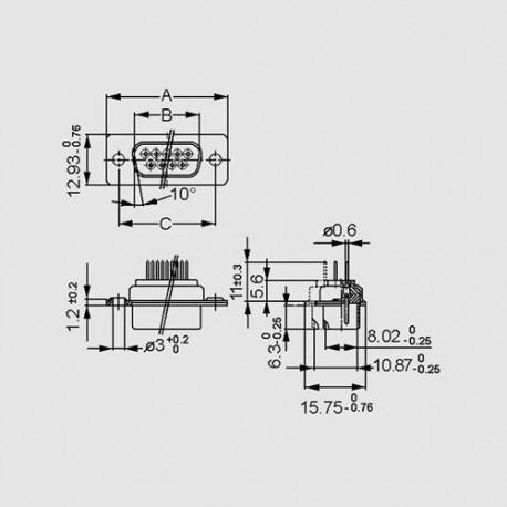 dimensions DF _ P-P