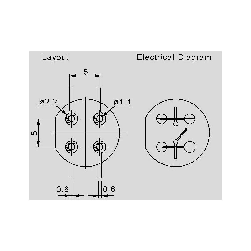 D6R weiß, Schließer, mit rundem Knopf - elpro Elektronik