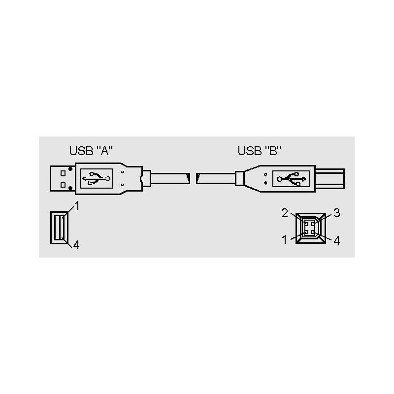 USB AB 3m, USB-Anschlussleitungen - elpro Elektronik