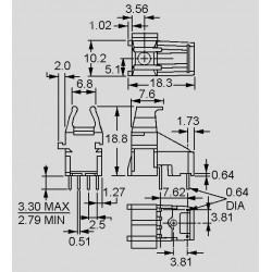 dimensions HFBR 153_