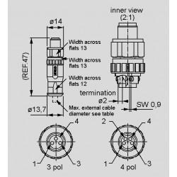 Abmessungen  SAL-8-RSC_