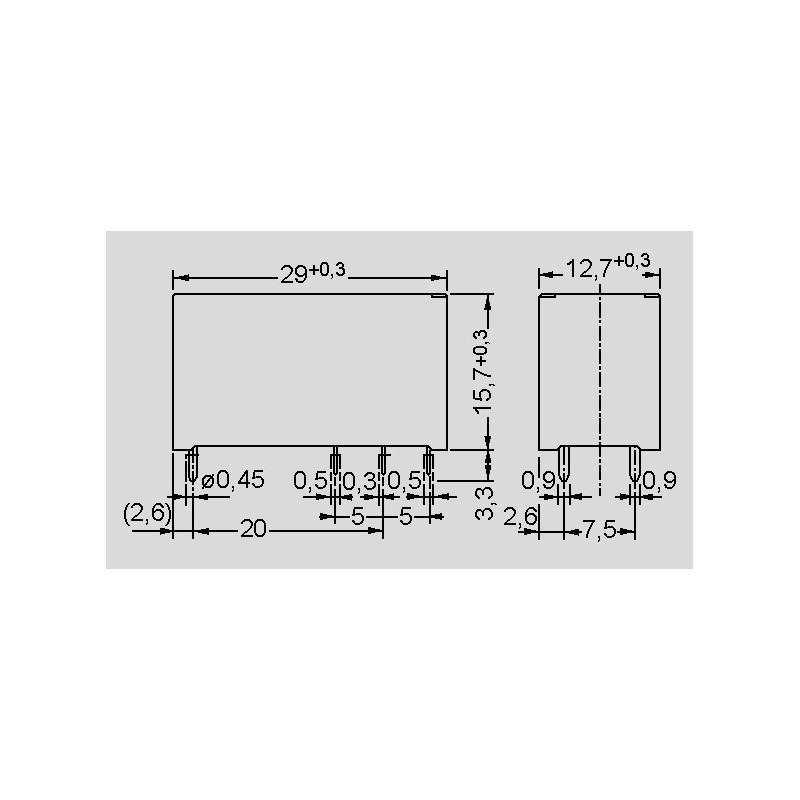 FTR-K1AK012T Relay electromagnetic SPST-NO Ucoil12VDC 16A//250VAC 16A