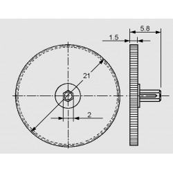 dimensions thumbwheel 9041