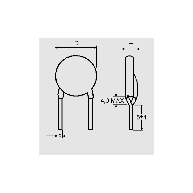 K 470 pF X1/Y2 RM 7,5, Funkentstörkondensatoren - elpro Elektronik