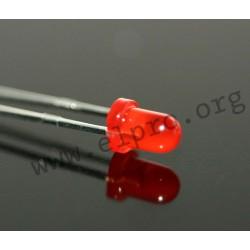 LED 3 mm rot 8,7mCd 60°
