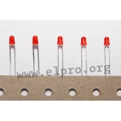 LED 3 mm rot 8,7mCd 60° reel