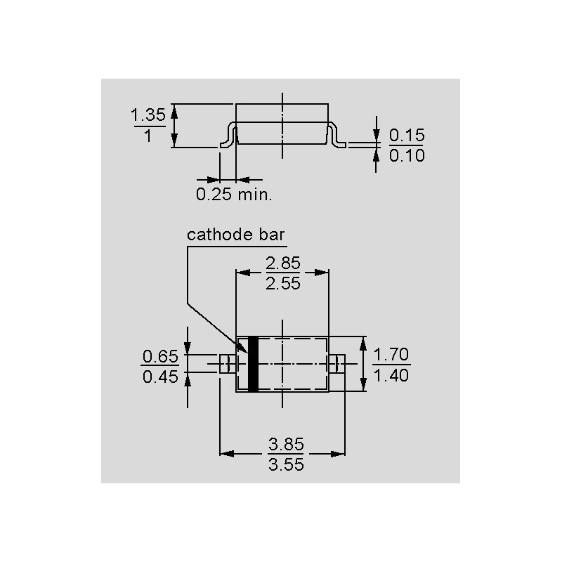 X10 Pcs Zener diode sod-123 BZT52C2V4 0,5W 500mW 7288Z Série BZT52C 2V4