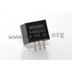 DC/DC-switching regulators series R-78E3.3-0.5