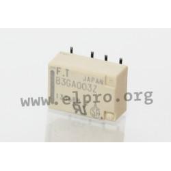 dimensions, pin board and circuit diagram FTR-B3G_