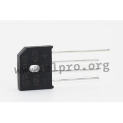 5 x Taiwan Semiconductor KBU405G Bridge Rectifier 4A 600V 4-Pin KBU Power Supply