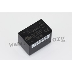 RAC02-24SGA, Recom, output 2 watts, single output, On-Board-Type, RAC02-GA series by Recom