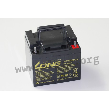 WPS40-12, Kung Long Batteries, 12 V, by Kung Long