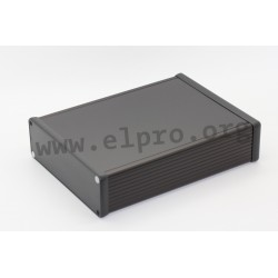 1455T2202BK, Hammond, extruded aluminium enclosures, plastic end plates
