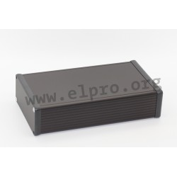 1455Q2201BK, Hammond, extruded aluminium enclosures, aluminium end plates