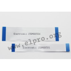 FA05A20P100-336633, ElectronAix, FFC cables for standard ZIF connectors, pitch 0,5mm, RM 0,5 20-pol 10cm