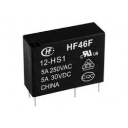 HF46F/12-HS1, Hongfa, Hongfa PCB relays 5A, SPST-NO, HF46F series