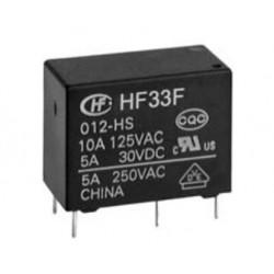HF33F/012-HSL3F, Hongfa, Hongfa PCB relays, 10A, SPST-NO, HF33F series