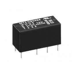 1-1462000-3, TE Connectivity, TE Connectivity Axicom PCB relays 2A, 2 changeover contacts DPDT, MT2 series