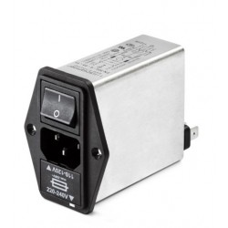 FN394E-6-05-11, Schaffner RFI filters with IEC plug, fuse holder and switch, FN 394 series